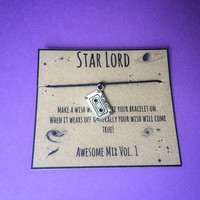 Guardians of the Galaxy mix tape wish bracelet