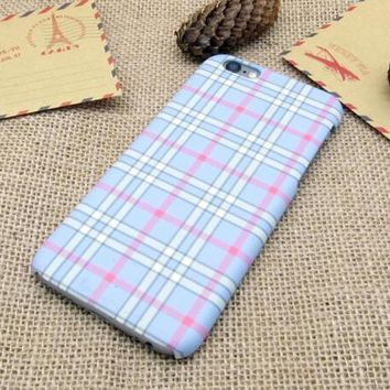 original chic grid iphone 5se 5s 6 6s plus case cover nice gift box 282  number 1
