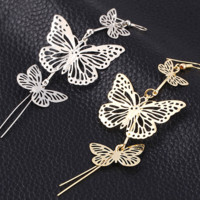 Fashion punk nightclub rock exaggerated hollow butterfly earrings earrings earrings personalized earrings