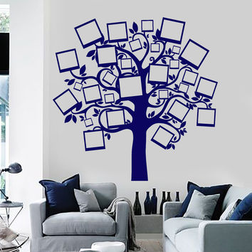Wall Vinyl Decal Family Tree Pictures Branches Guaranteed Quality Decor z3906