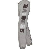 Oakland Raiders - Glitter Hearts Girls Youth Sweatpants