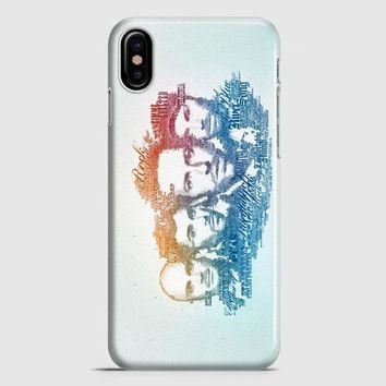 Coldplay Faces Lyrics Design iPhone X Case