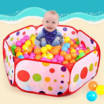 50pcs balls+Outdoor/Indoor Baby Playpens For Children's Foldable Kids Ocean Ball Pool Pit Activity&Gear Toy Fencing 1M 1.2M 1.5M
