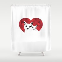 Cats in love Shower Curtain by Sagacious Design