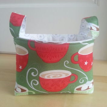 CIJ ~ Small Fabric Storage Bin Basket ~ Hug in a Mug