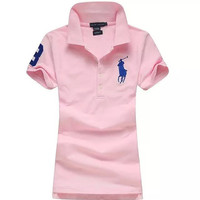 Trendsetter POLO Women Cotton Summer T-shirt Tee