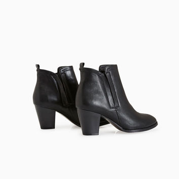 Vegan Leather Ankle Booties | Wet Seal