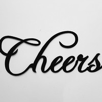 Cheers Word Sign Metal Wall Decor