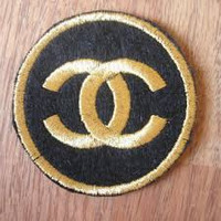 """CC"" Logo Iron On Patch"