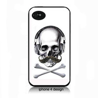 Mustache Skull and Crossbones  Iphone 4/4s case, Iphone cover