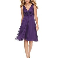 Adrianna Papell Plus Size Dress, Sleeveless with Rosettes - Evening & Cocktail Dresses Plus Size Dresses - Plus Sizes - Macy's