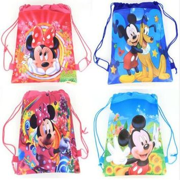 2018 Hot sale cartoon backpack non-woven pocket bag kindergarten cute drawstring bag Pikachu KT girls boys gift birthday bag