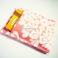 Peach, credit card case, slim womens wallet, back to school id card holder, id1360923 front pocke minimalist portefeuille