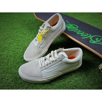 Sale Vans Vault x Our Legacy Old Skool Pro 92 White Sport Shoes Sneaker VN0A38G7N86