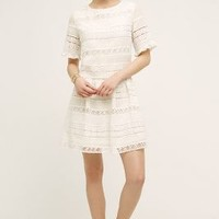 KAS New York Clarimond Lace Dress in White Size: