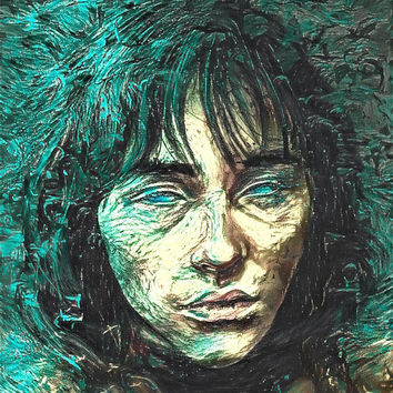Game of Thrones Original Oil Painting - Green Seer Stark - 12x12 to 24x36 painting/poster/canvas; great gift idea