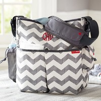 Gray Chevron Skip Hop Duo Diaper Bag