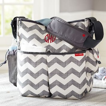 Gray Chevron Skip Hop Duo Diaper Bag | Pottery Barn Kids