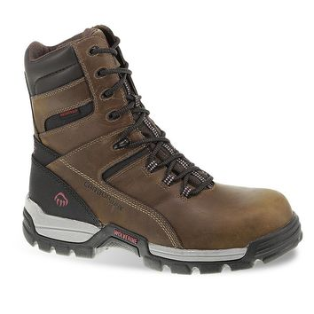 Wolverine Tarmac Men's Extra Wide-Width Waterproof 8-in. Composite-Toe Work Boots (Brown)