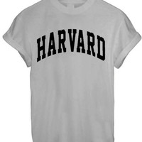 HARVARD MEN WOMEN UNISEX TEE TOP T Shirt - GREY
