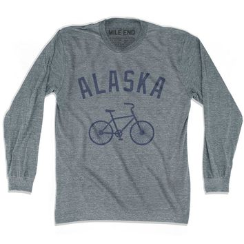 Alaska Vintage Bike T-shirt Long Sleeve
