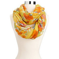 Bright Watercolor Floral Infinity Scarf: Charlotte Russe