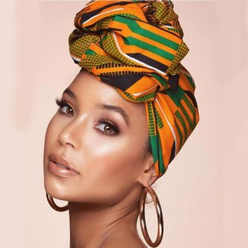 Kente BEAUTIFUL HEADWRAP | Turban Wax print Head wrap | Ankara headscarf | African wax print Headband Turban | Ladies Scarf