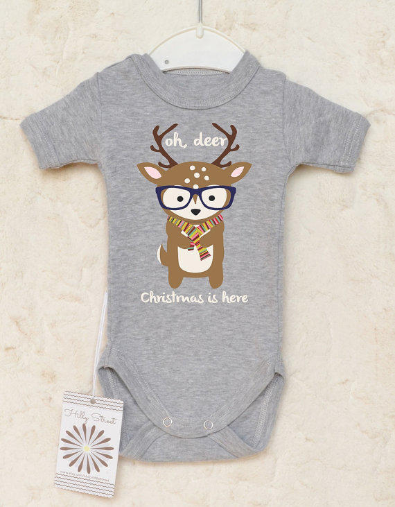 Christmas Baby Clothes. Reindeer Baby from HillyStreet on Etsy cf9902c95