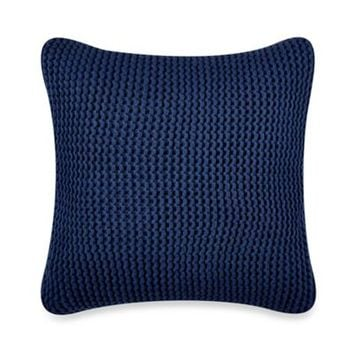 Nautica® Leighton Knit Square Throw Pillow in Cobalt Blue