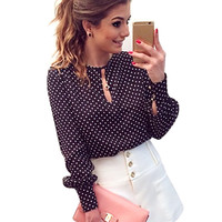 Women Blouse -Polka Dots