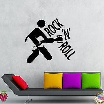 Wall Stickers Vinyl Decal Rock`n`Roll Rock Music Guitar Decor  Unique Gift (z2100)