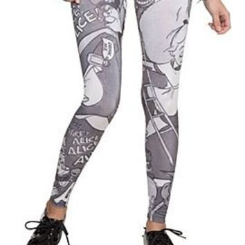 Disney Alice In Wonderland Leggings Plus Size - 393564