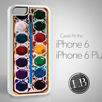 PRE-ORDER - iPhone 6 Case - Watercolor Paint Water Color Messy Retro Design - iPhone 6 / 6 Plus Cover IP6