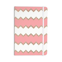 "Monika Strigel ""Avalon Coral Chevron"" White Blush Everything Notebook"