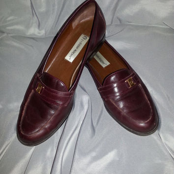 Vintage 90s Women's Camelot Etienne Aigner Leather Loafers