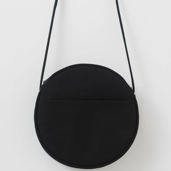 Medium Canvas Circle Purse | Black