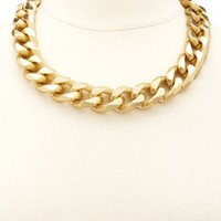 OVERSIZED CHAIN SHORT NECKLACE