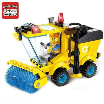 Enlighten Brick City Series Sweeper Building Block Sets Bricks Compatible Toys Gifts For Children Kids