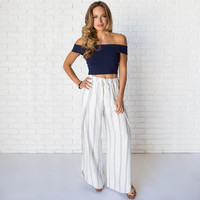 Hangover Wide Leg Stripe Pants