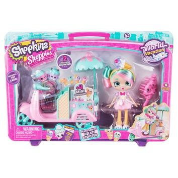 Shopkins™ World Vacation Shoppies Doll Playset - Peppa-Mint's Gelati Scooter