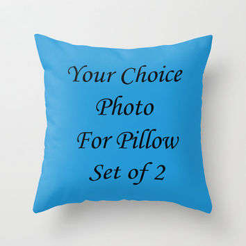Personalized Pillow Covers You Provide Photo Set of 2 Throw Pillow Cover Cushion Cover Custom Order