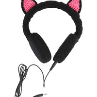 iHip Black Cat Crochet Headphones