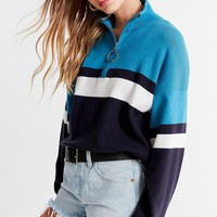 UO Oversized Striped Half-Zip Sweater | Urban Outfitters