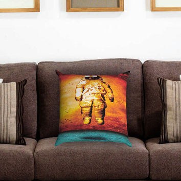 Astronaut Deja Entendu Pillow Cover , Custom Zippered Pillow Case One Side Two Sides