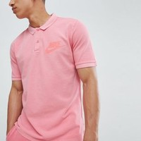 Nike Matchup Washed Polo In Pink 886491-823 at asos.com