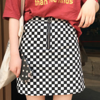BLACK & WHITE SKIRT sold by BRAVE STORE