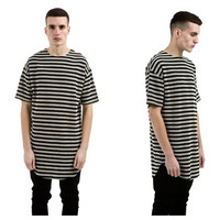 Stripes Cotton T-shirts [10368012931]