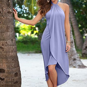 Waterfall dress, sandal