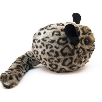 Chinchilla Stuffed Animal Cute Plush Toy Chinchilla Kawaii Plushie Cheetah Chinchilla Snuggly Cuddly Spotted Faux Fur Toy Medium 5x8 Inches