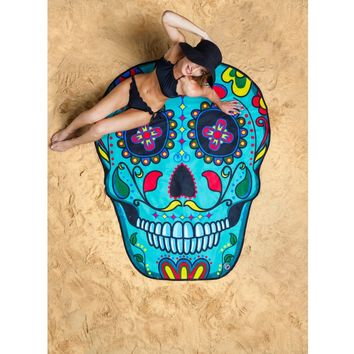 Sugar Skull Beach Towel Blanket